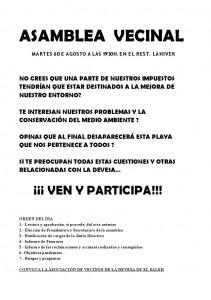 Cartel Asamblea 2013